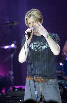 David Bowie Performing New Album 'Reality' Riverside Studios London Britain 08 Sep 2003 David Bowie