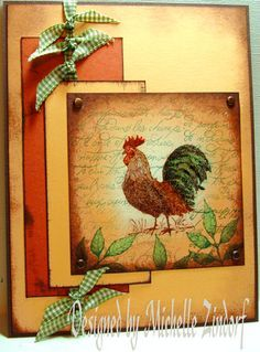 french country rooster