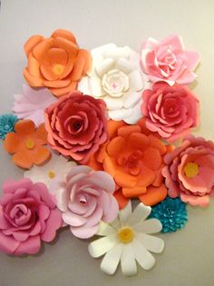 Giant Paper Flowers by LilRabbitCrafts on Etsy