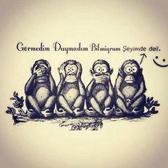 Yeni yüzyıla uyarlanmış hali.Sonraki yüzyıla ne gelir bilinmez.Dört maymun :)