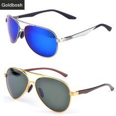 289ac7d4e00 2014 Aviator sunglasses Driving Sunglasses brand polarized glasses men clear  lens polaroid designer sunglasses cool gold