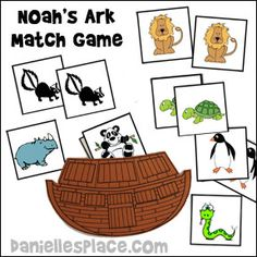 Noah's Ark Bible Match Game from www.daniellesplace.com