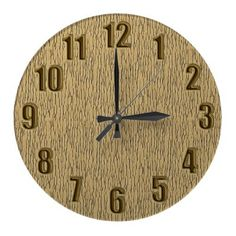 Look like wood wall clock with large numbers by YANKAdesigns on Zazzle $24.95