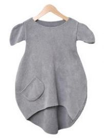 CuCu lab Dress 6 in dark grey   kids fashion . Kindermode . mode d'enfant   @ spruit kinderkleding  