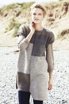 Naisen hihaton neuletunika Novita Nordic Wool ja Nordic Wool Flow | Novita knits