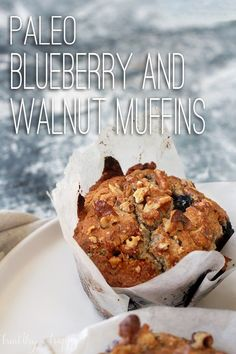Paleo Blueberry and Walnut Muffins {vegan, refined sugar free, simple, gluten free, dairy free, egg free} - Healthy 'n Happy