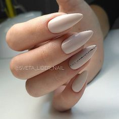Looking for the best nude nail designs? Here is my list of best nude nails for your inspiration. Check out these perfect nude acrylic nails! Long Almond Nails, Almond Acrylic Nails, Almond Shape Nails, Nails Shape, White Almond Nails, Almond Nail Art, Matte Nails, Stiletto Nails, Glitter Nails