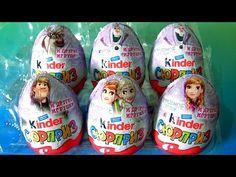 Kinder Egg Disney Frozen Princess Anna Elsa Kristoff Olaf Sven by funtoyscollector Disney toy review - YouTube #affiliatelizav