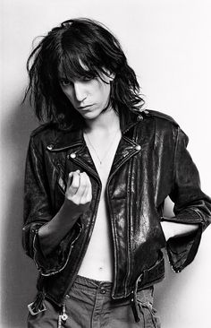Patti Smith (1946) - American singer-songwriter, poet and visual artist who became a highly influential component of the New York City punk rock movement with her 1975 debut album Horses. Photo © Lynn Goldsmith, 1976