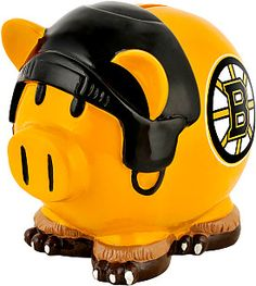 Forever Collectibles Boston Bruins Resin Large Thematic Piggy Bank - Shop.NHL.com