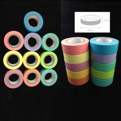 Candy Color Sticky Paper Masking Adhesive Decorative Tape Scrapbooking DIY Hot Selling