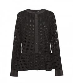 Who What Wear x Target Eyelet Peplum Blouse