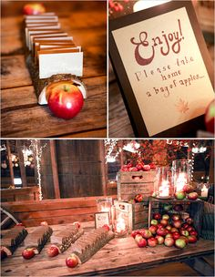 apple  bar- kinda cool but still unsure how I feel aboot this...could also be apple cider bar to be taken home, that might be less weird. lol