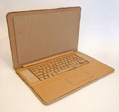 cardboard laptops | cardboard laptop Cardboard Kitchen, Cardboard Crafts Kids, Cardboard Toys, Diy Crafts For Kids, Paper Crafts, Cardboard Model, Cardboard Sculpture, Diy Laptop, Diy Toys