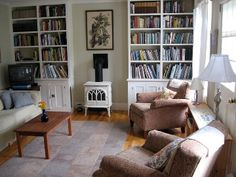 Living room and books, Rob's house