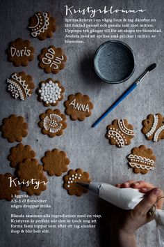 """We're decorating ginger bread cookies and drinking hot chocolate. Time to light candles and get cozy inside. Just be happy for the small things in life. Swedish Christmas, Christmas Gingerbread, Scandinavian Christmas, Christmas Baking, Gingerbread Cookies, Christmas Cookies, Christmas Time, New Year's Cake, Made By Mary"