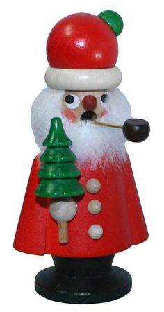 Small Santa with Tree Incense Smoker ~ Christian Ulbricht Germany German Christmas Decorations, Christmas Ornaments, Holiday Decor, Very Merry Christmas, Vintage Christmas, Christmas Stuff, Xmas, Incense Cones, Nutcracker Christmas