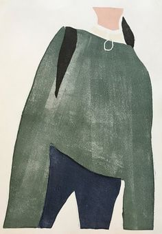 Green Sweater Monotype Renée Gouin