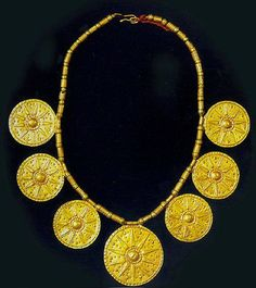 Northern Iran ,Marlik gold neckles ca , 1000-900 BC