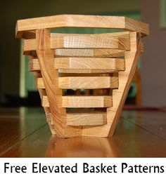 Free Elevated Basket Scroll Saw Patterns