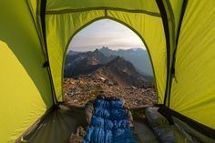 An amazing view to wake up to, at Cutthroat Pass in North America's Washington State. Photo: Scott Kranz via Red Bull Camping In Washington State, America Washington, Utah Camping, Camping Style, Camping Places, Outdoor Camping, Adventure Photos, Adventure Travel, Camper