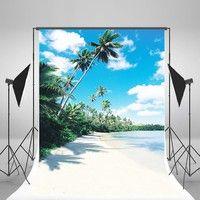 Wish | 5x7ft Summer Photography Backdrops Sunny Day Blue Sky Background Beach Photo Backdrop