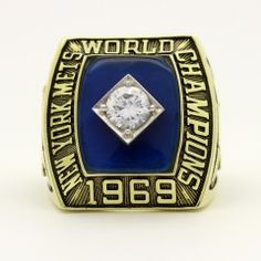 New York Mets 1969 World Series MLB Championship Ring With Blue Sapphire World Series Rings, Grey Cup, Championship Rings, American League, Baltimore Orioles, New York Mets, Major League, Blue Sapphire, Mlb