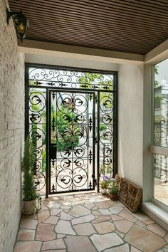 Front Gate Design, House Gate Design, Entrance Design, Home Room Design, Dream Home Design, My Dream Home, Home Interior Design, Exterior Design, Interior Ideas