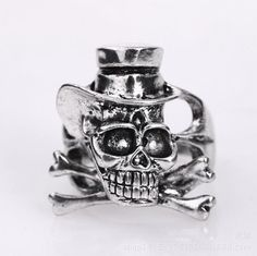 >> Click to Buy << Stainless Steel Men Skull Ring Vintage Gothic Punk Style Party Skeleton Jewelry Gift New 2015 colar masculino LQ  #Affiliate