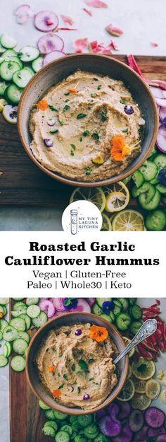 Roasted Cauliflower Garlic Hummus - My Tiny Laguna Kitchen