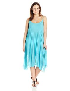 Bleu Rod Beattie Women's Plus Size Over the Edge A-Line Pleated Dress Cover-Up -- You can get more details here : Plus size swimwear