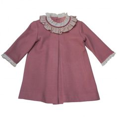 Baby knitted dress pink