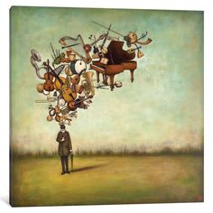 "iCanvas Thanks for the Melodies by Duy Huynh Canvas Print (Depth 0.75 - Size 26"" x 26"")"