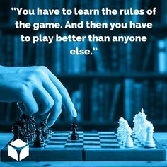 """""""You have to learn the rules of the game. And then you have to play better than anyone else."""" -Albert Einstein #quotes #quoteoftheday"""