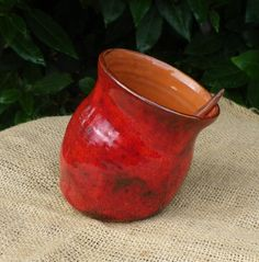 Salt pig salt cellar hand thrown in terracotta pottery ceramic via Etsy