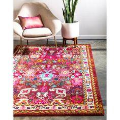 Bungalow Rose Tulsa Handmade Tufted Wool Brown Rug & Reviews | Wayfair Orange Rugs, Orange Area Rug, Floral Area Rugs, Beige Area Rugs, Wicker Chairs, Pink Rug, Coral Pink, Persian Carpet, Persian Rug
