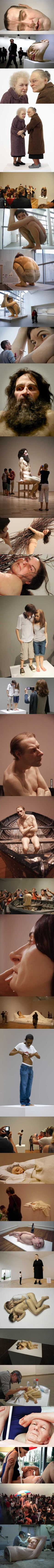A Collection Of Ron Mueck's Realistic Sculptures