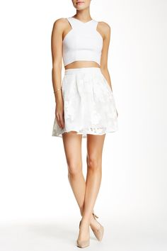 Lace Skirt by Romeo & Juliet Couture on @HauteLook