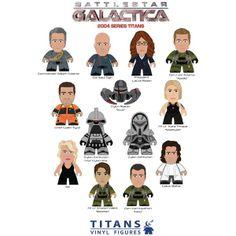 Battlestar Galactica 2004 - TITANS figures!