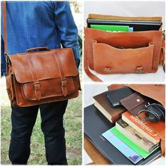 Items similar to Leather Messenger Bag - 17 inch Laptop Bag - Tobacco Leather Briefcase - Laptop Bag - Shoulder Bag on Etsy Leather Laptop Bag, Leather Briefcase, Laptop Bags, College Bags, Laptop Shoulder Bag, Designer Shoulder Bags, Messenger Bag Men, Leather Bags Handmade, Leather Men