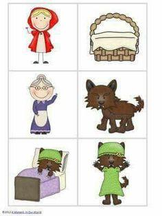 Little Red Riding Hood Pack Preschool Weekly Themes, Kindergarten Art Activities, Fairy Tale Activities, Preschool Literacy, Preschool Books, In Kindergarten, Fun Activities, Fairy Tale Crafts, Fairy Tale Theme