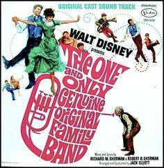 """""""The One And Only Genuine Original Family Band"""" (1968, Buena Vista).  Music from the movie soundtrack."""