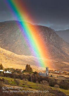 Church Under the Rainbow, Gweedore, Donegal, Ireland Copyright: Derek Smyth