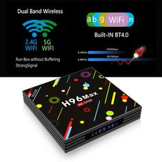 H96 H2 MAX RK3328 4GB RAM 64GB ROM 5G WIFI Bluetooth 4.0 USB3.0 Android 7.1 TV Box with Time Display 4gb Ram, Photography Camera, Smart Tv, Quad, Android, Wifi, Core, Display, Bluetooth