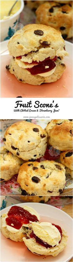 Fruit Scones! ❤️ Buttery Fruit Scones that are perfect for Afternoon Tea – Serve with Jam & Clotted Cream for a Classic Treat!