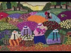 Como Aprender las Puntadas de la Técnica Bordado Brasileño- Hogar Tv por Juan Gonzalo Angel - YouTube Silk Ribbon Embroidery, Embroidery Art, Embroidery Stitches, Handmade Toys, Handmade Crafts, Peruvian Art, Rug Hooking, Figure Painting, Needle Felting