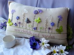 My Childhood Garden Pillow (Cottage Style)
