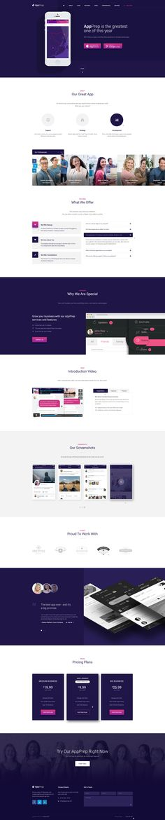 AppPrep - Creative App Landing Page PSD Template #bootstrap landing page #landing page #marketing landing page • Download ➝ https://themeforest.net/item/appprep-creative-app-landing-page-psd-template/19395776?ref=pxcr