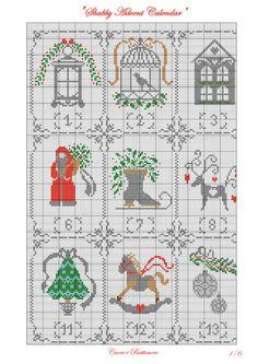 Gallery.ru / Shabby Advent Calendar - Shabby Advent Calendar - Marina-Melnik