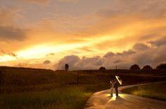 Bride and Groom with umbrella Drakensberg-Rainy-Wedding-